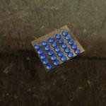 20137023 plaklampjes blauw 25st